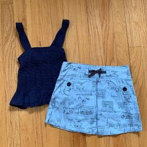Girls Ralph Lauren Tank & Gymboree Skort Bundle